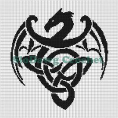 Celtic Dragon Crochet Graph Pattern pattern on Craftsy.com