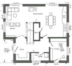 Die 17 Besten Bilder Von Haus Integriert Garage House Floor Plans