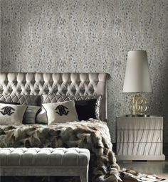 roberto cavalli home silver white black bedroom Goris Goris Osborn Cavalli Modern Bedroom Design, Contemporary Bedroom, Bed Design, Bedroom Designs, Bedroom Sets, Home Bedroom, Bedroom Decor, Baby Bedroom, Bedroom Colors