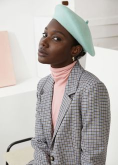 Suit Fashion, Girl Fashion, Fashion Outfits, Fashion Sewing, Beret Outfit, Fall Outfits, Cute Outfits, Wool Berets, Fall Accessories