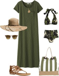 """Beach Days"" by nancyell ❤ liked on Polyvore"