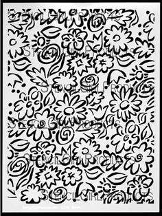 Click here to purchase the Sporn Flowers Positive Stencil by Jessica Sporn for StencilGirl Products. $14.00