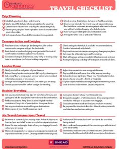 Great checklist to print out before your next trip to St. Maarten.