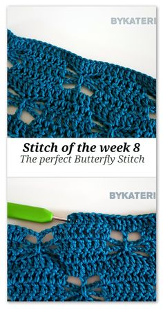 Stitch of the week 8: The perfect Butterfly stitch | ByKaterina