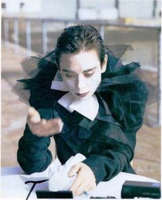 Tina Chow as Pierrot by Steven Meisel Vogue 198