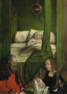 [ F ] Juan de Flandes - Birth of John the Baptist (1499) - Detail by Cea., via Flickr