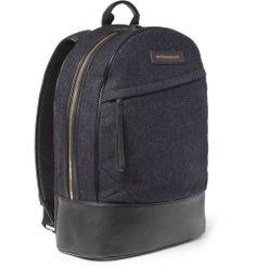WANT Les Essentiels de la Vie- Kastrup Leather-Trimmed Tweed Backpack