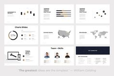 Quintus Minimal Powerpoint Template by SlidePro on @creativemarket