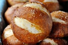 Amazing Soft Pretzel Rolls -I just ate one of these, SERIOUSLY amazing. I want to eat 500 more. At least.