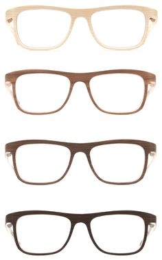 Absolutely adorable wooden eyewear by austrian label Rolf Spectacles.