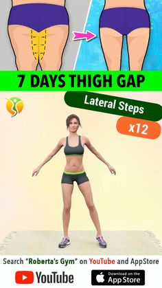 Fitness Workouts, Gym Workout Videos, Gym Workout For Beginners, Fitness Motivation, Lose Fat Workout, Full Body Gym Workout, Thigh Exercises, Thigh Gap Exercise, Workout Bauch