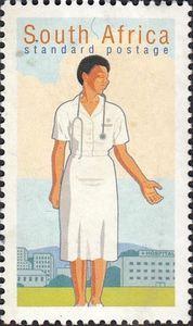 Stamp: Nurse (South Africa) (Professions) Mi:ZA 1198