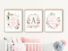 The best method to start your bunny themed nursery is with the best baby bed linen. Decorating your child's nursery can be a great deal of fun, especially whenever you are impatiently awaiting the birth of your infant. Nursery Monogram, Nursery Decals, Baby Girl Nursery Decor, Floral Nursery, Nursery Wall Decor, Nursery Art, Bird Nursery, Girl Decor, Baby Room