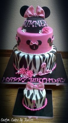 The cake if I do it in Minnie theme .
