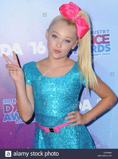 Download this stock image: Hollywood, CA, USA. 17th Aug, 2016. 17 August 2016 - Hollywood, California. Jojo Siwa. 2016 Industry Dance Awards & Cancer Benefit Show held at the Avalon. Photo Credit: Birdie Thompson/AdMedia Credit:  Birdie Thompson/AdMedia/ZUMA Wire/Alamy Live News - GJWM64 from Alamy's library of millions of high resolution stock photos, illustrations and vectors.