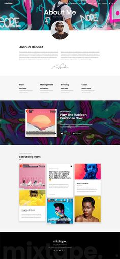 Checkout our Mixtape, a music theme for artists, bands, and festivals. We've made this buzzing WordPress theme using only the finest coding practices, so you can easily kick-start your music career and get in the spotlight! Video Slider, Website Themes, Website Layout, Website Ideas, All Themes, Social Icons, List Of Artists, Music Industry, Best Wordpress Themes