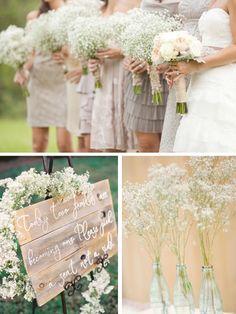 babys breath wedding   Wedding Flower Feature: Baby's Breath