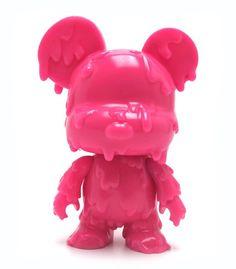 "Mini Qee 5"" Melting Bear Pink"