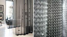 Whiting & Davis Large Stainless Steel Ring MeshDesigner: Lucinda Loya Interiors|Application: Residence