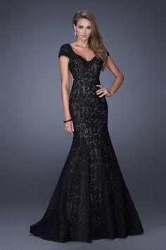 2015 robes formelles de sirène longue noir et rouge de la dentelle dos ouvert € 157.69 VGFPNMNGQFE - VoguePromDresses.fr for mobile
