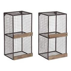Shop for Kate and Laurel Linde 2-pack Metal Cage Organizer Wall Shelves. Free Shipping on orders over $45 at Overstock.com - Your Online Home Decor Outlet Store! Get 5% in rewards with Club O! - 23035156