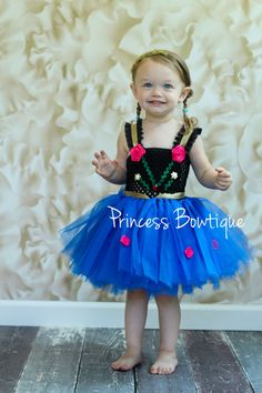 Baby Anna Frozen Inspired Tutu Dress Birthday Dress Up Costume! Restock! Limited Supply