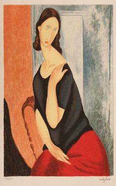 Amadeo Modigliani  / Jean Aboutren with her hand on her shoulder