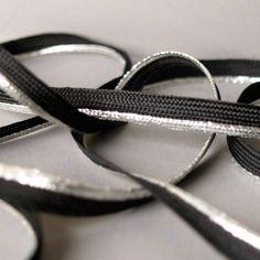 Nastro nero/argentato x 50cm