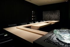 Sushi SORA by A.N.D., Tokyo Japan restaurant Japanese Restaurant Design, Japanese Design, Visual Merchandising, Sushi Counter, Arch Light, Noodle Bar, Asian Restaurants, Japanese Interior, Oriental Design
