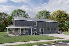 Pole Barn House Plans, Garage House Plans, Pole Barn Homes, Best House Plans, Cabin Plans, Metal House Plans, Pole Barns, Car Garage, Garage Doors