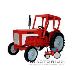 Tekno 434 International Traktor mit Kabine 1/32
