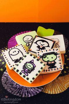 Sweet Glitter Stamped Halloween Cookies from Bakingdom