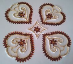 EC Indian Handicrafts' (Customized Kundan Rangolis): Double shell-design Kundan Re-arrangeable Rangoli
