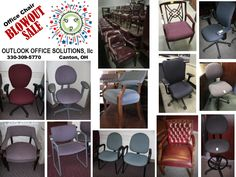 Huge Used Office Chair Sale Call we offer shipping and delivery options as well as cleaning and refabricing for most chairs. Office Chairs For Sale, Used Office Furniture, Chair Sale, Furniture Outlet, Delivery, Cleaning, Home, Ad Home, Home Cleaning
