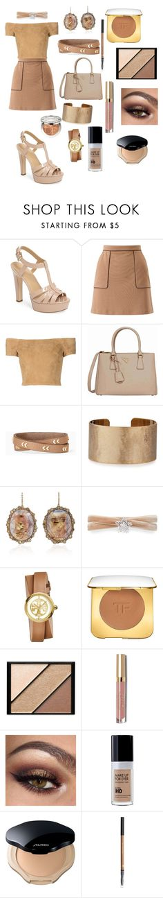 """""""Patent Leather: Nude Sandal"""" by dazzlers ❤ liked on Polyvore featuring MICHAEL Michael Kors, Miss Selfridge, Alice + Olivia, Prada, Stella & Dot, Panacea, Kimberly McDonald, Fallon, Tory Burch and Tom Ford"""