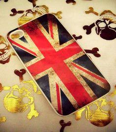 Vintage UK British Union Jack Flag iPhone 4G/4S Case. $9.99, via Etsy.