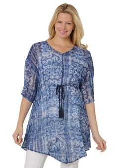 Tassel blouse Plus Size Fashion from Woman Within.