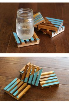 DIY drink coasters Wooden pallet coasters using square dowels. DIY drink coasters Wooden pallet coasters using square dowels. Wooden Pallet Projects, Wooden Pallets, Wooden Diy, Wooden Pallet Furniture, Pallet Ideas, Diy Projects Using Pallets, Pallet Diy Easy, Wooden Gifts, Wooden Decor