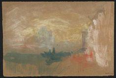 Joseph Mallord William Turner - The Salute: Evening, c.1839 Gouache and watercolour