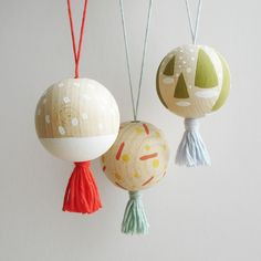 Mini Ornaments for kids to make for their tree