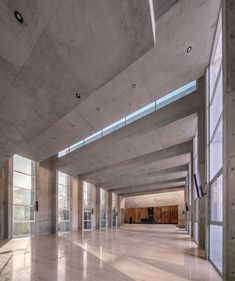 The beams, meanwhile, also integrate clerestory windows that bring even more light to the interiors. Dezeen, Travertine, Concrete, Mexico, Minimalist, Clerestory Windows, Rammed Earth, Beautiful Architecture, Latin America