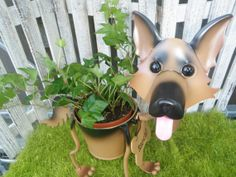 Personalized German Shepard English Ivy Garden Planter- Perfect Gift for the Dog Lover on Etsy, $45.00