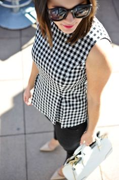DVF gingham top via