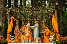 Indian Wedding Ceremony In A Forest Setting …