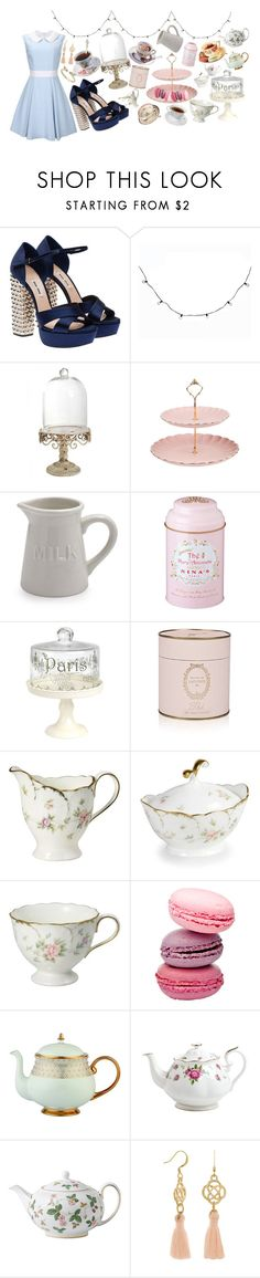 """Untitled #140"" by breakfastatemilys ❤ liked on Polyvore featuring Miu Miu, Illume, Sur La Table, Prouna, Royal Albert and Wedgwood"
