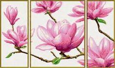 вышивка крестом больших размеров цветы - Bing images