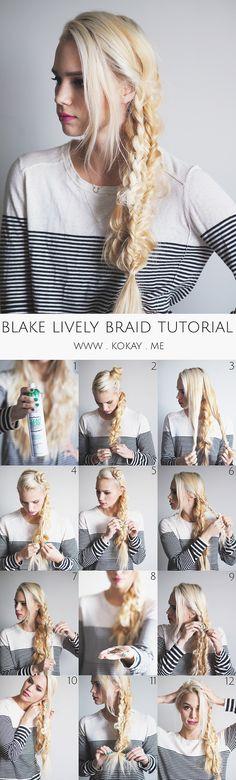 Blake Lively Triple Braid Tutorial