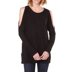 Dance & Marvel Women's Contemporary Cold Shoulder Sweater