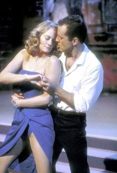 """Cybill Shepherd & Bruce Willis in """"Moonlighting"""""""