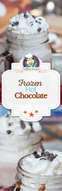Enjoy a Frozen Hot Chocolate made with Swiss Miss Cocoa, then topped with Reddi-wip. Amaze your family with this fun dessert.